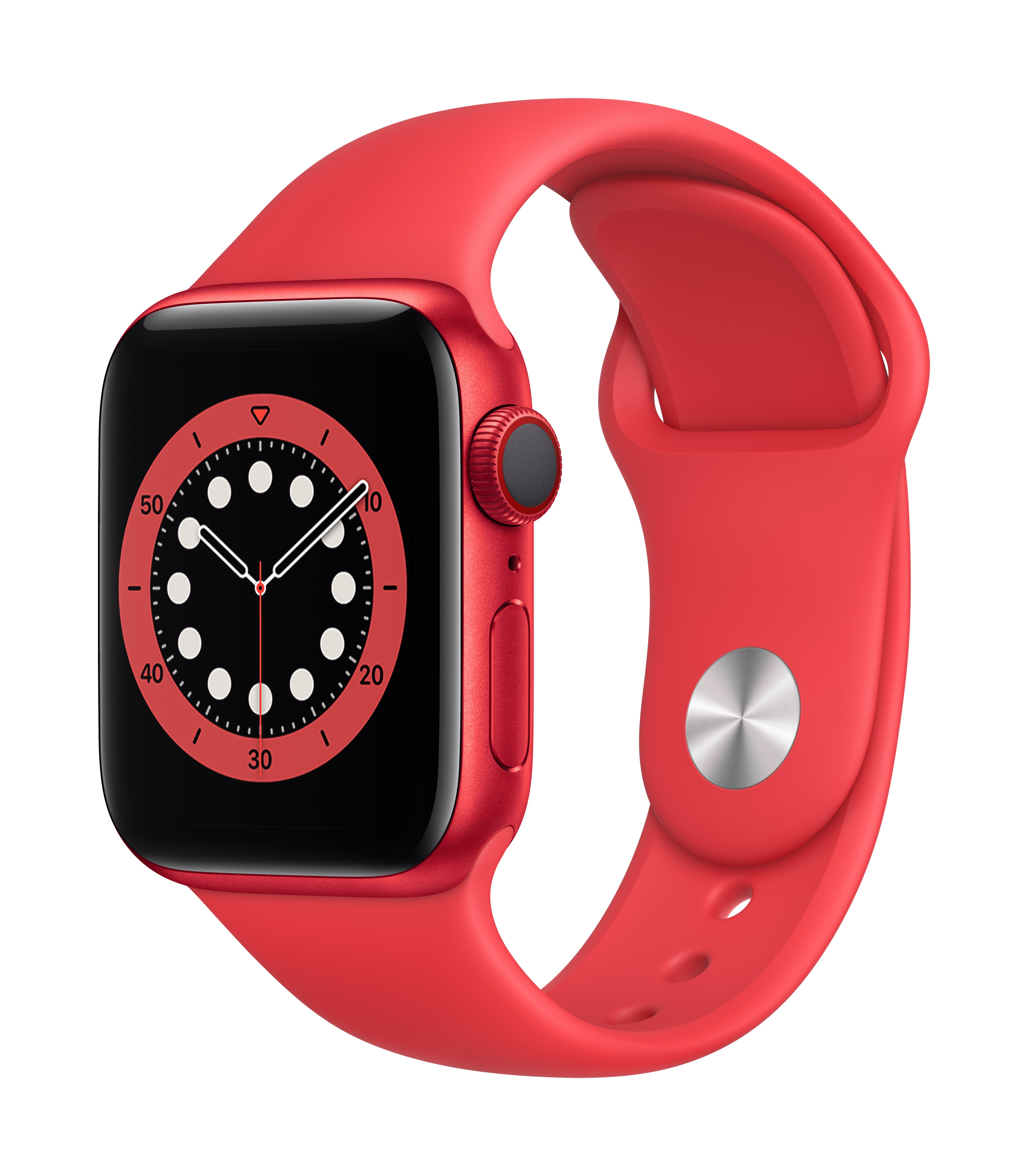 Apple Watch Series 6 GPS + Cellular 40mm PRODUCT(RED) Aluminum w/ PRODUCT(RED) Sport Band at Small Dog Electronics
