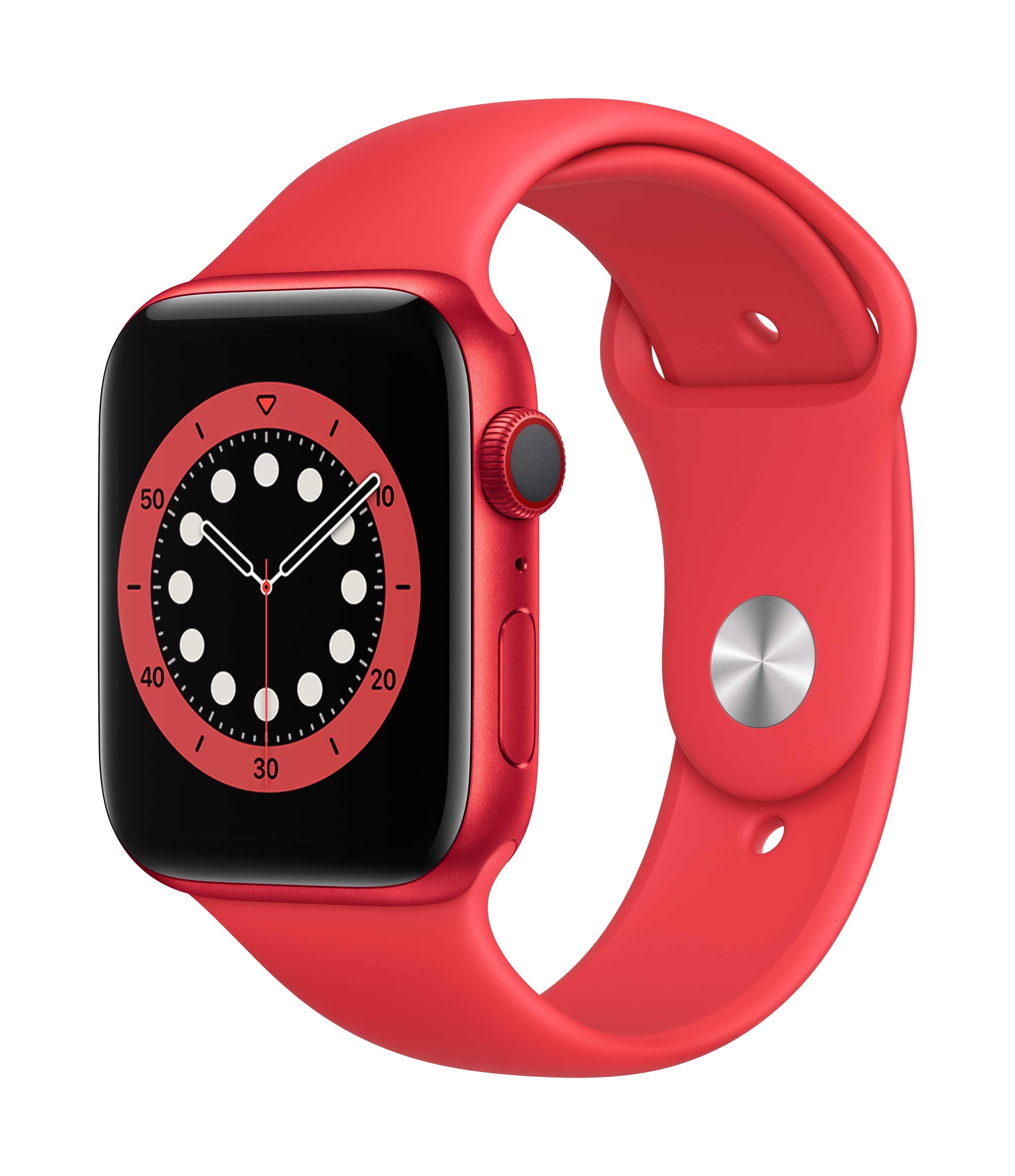 Apple Watch Series 6 GPS + Cellular 44mm PRODUCT(RED) Aluminum w/ PRODUCT(RED) Sport Band at Small Dog Electronics