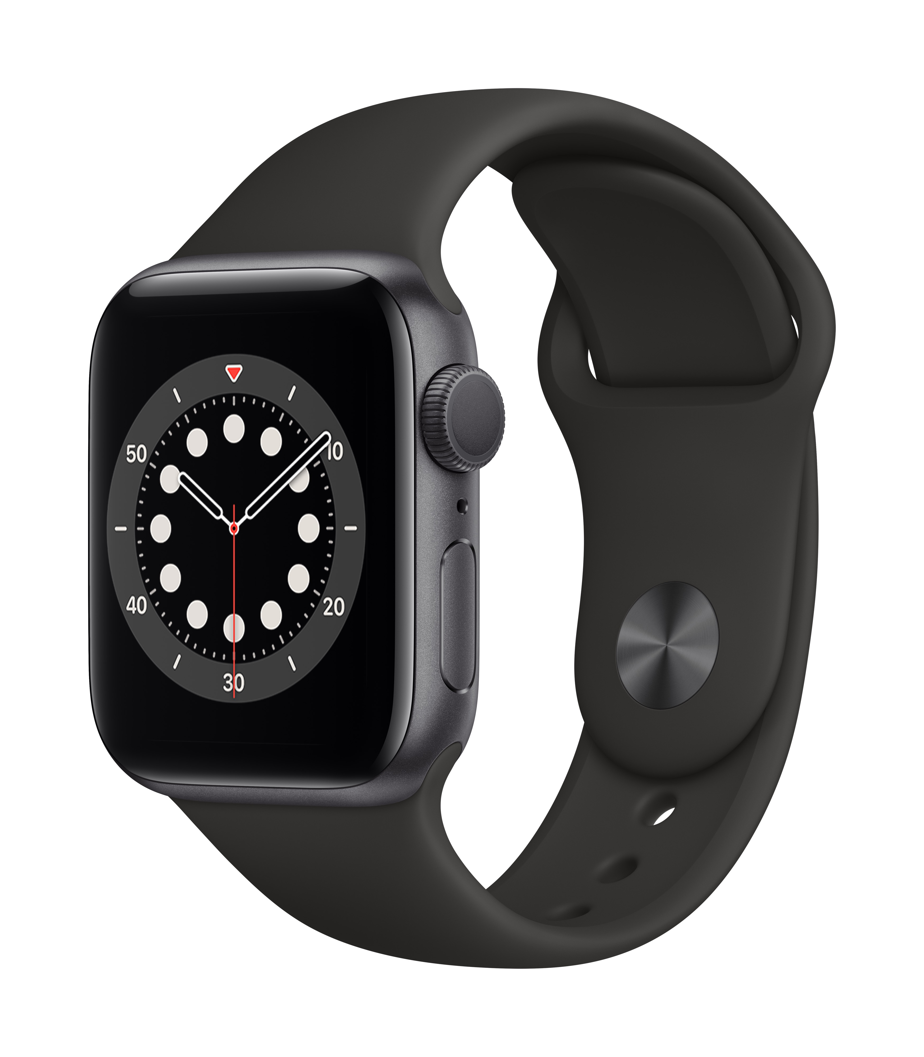 Apple Watch Series 6 GPS 40mm Space Gray Aluminum w/ Black Sport Band at Small Dog Electronics
