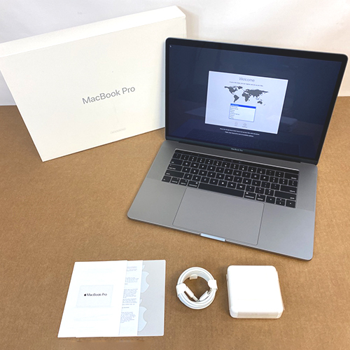 Refurbished - MacBook Pro 15in Touch Bar 2.6GHz i7 6-Core 16GB/256GB RP555x Space Gray (2018) at Small Dog Electronics