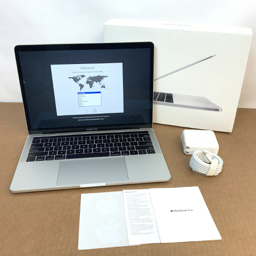 Open Box - MacBook Pro 13in 2.4GHz Quad-Core i5 Touch Bar 16GB/256GB Silver CTO (2019) at Small Dog Electronics