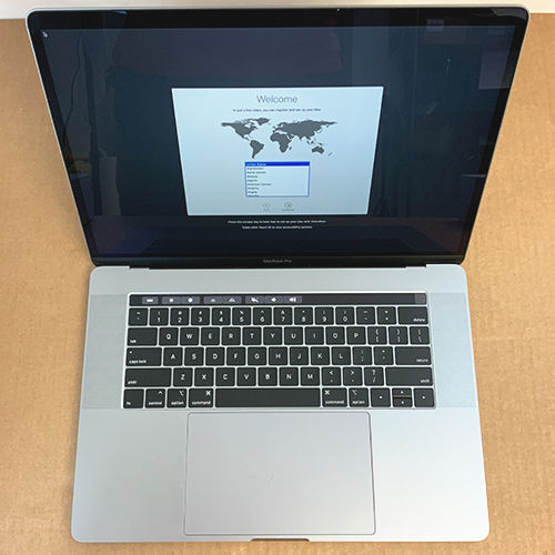 Open Box - MacBook Pro 15in Touch Bar 2.2GHz i7 6-Core 16GB/256GB RP555x 4GB Space Gray CTO (2018) at Small Dog Electronics