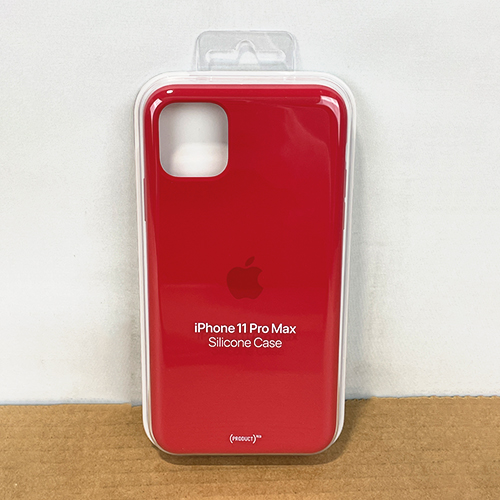 New, Factory Sealed - iPhone 11 Pro Max Red Silicone Case MWYV2ZM/A at Small Dog Electronics