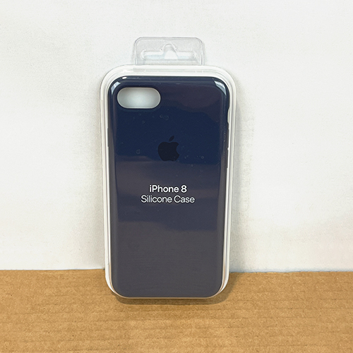 New, Factory Sealed - Apple iPhone 8 / 7 Silicone Case Midnight Blue MQGM2ZM/A at Small Dog Electronics