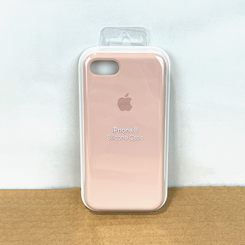 New, Factory Sealed - Apple iPhone 8 / 7 Silicone Case Pink Sand MQGQ2ZM/A at Small Dog Electronics
