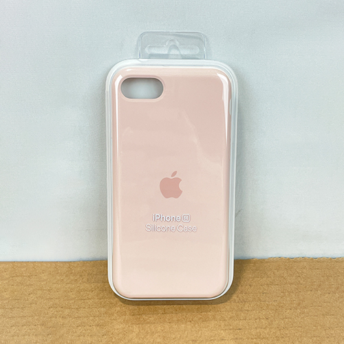 New, Factory Sealed - iPhone SE Pink Sand Silicone Case MXYK2ZM/A at Small Dog Electronics