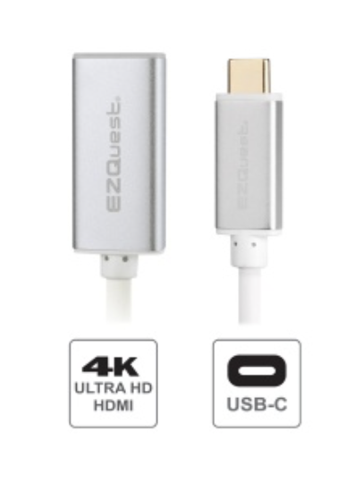 EZQuest USB-C to HDMI Adapter (21.5cm/8.5in) at Small Dog Electronics