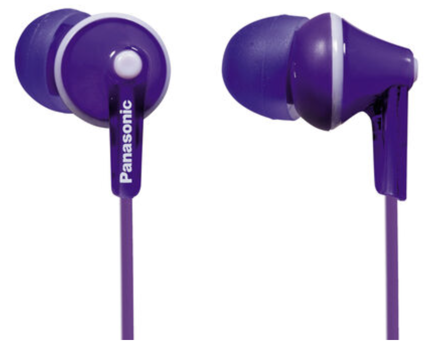 Panasonic Ergo Fit In-Ear Sound Isolating Headphones - Violet at Small Dog Electronics