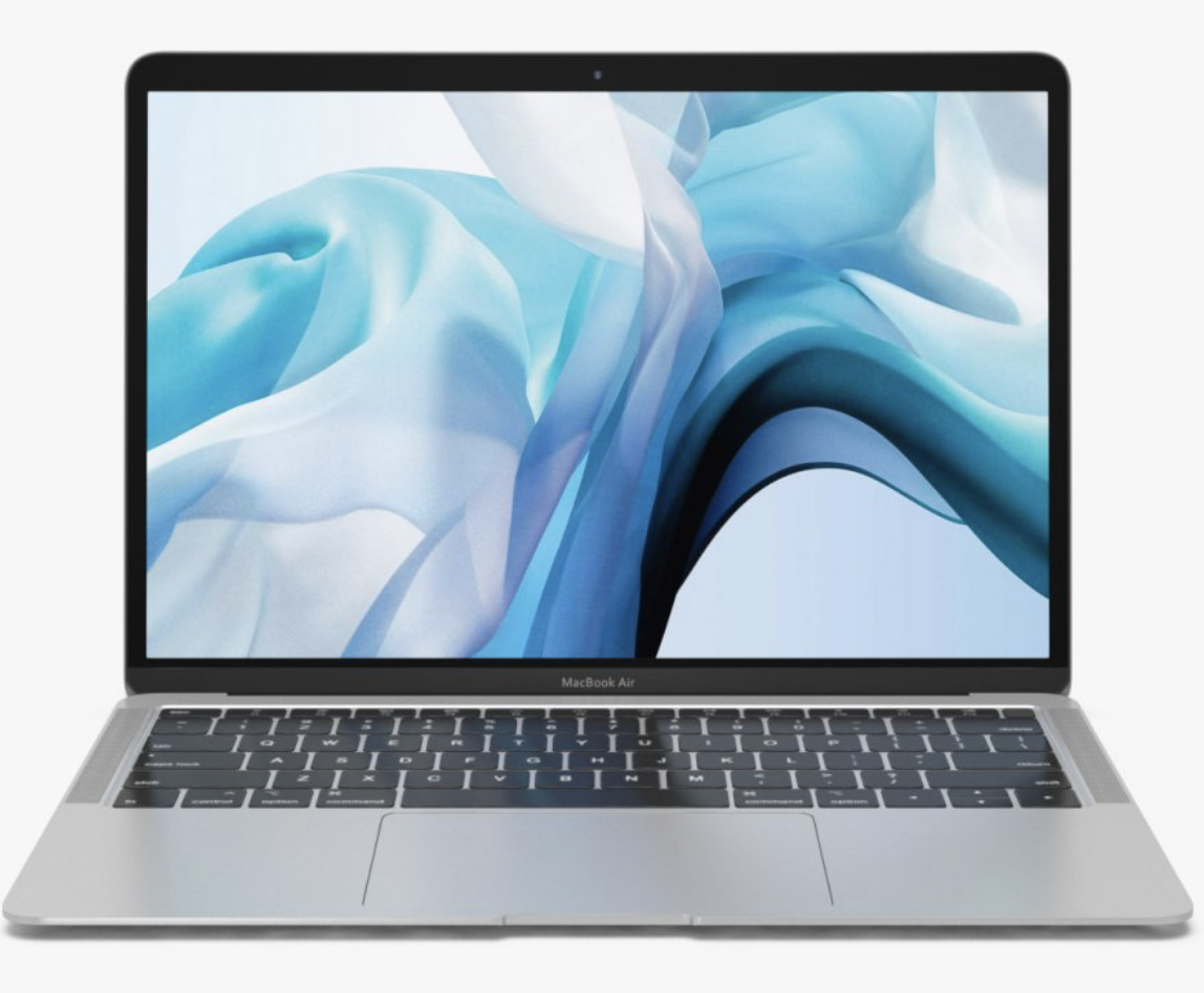 Macbook Air Silver 256GB and $25 Case Logic Notebook Sleeve at Small Dog Electronics