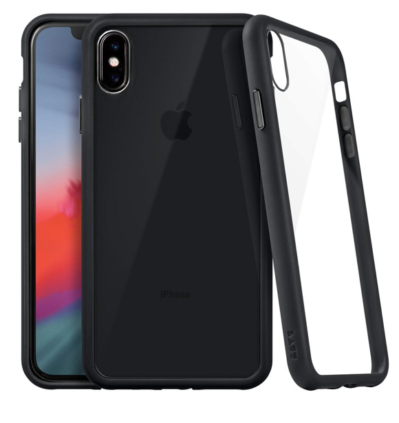 Laut Accents Tempered Glass Case for iPhone Xs Max - Black at Small Dog Electronics