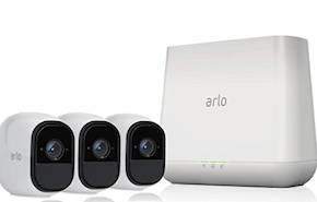 Arlo Pro Smart Security System with 3 Arlo Pro Cameras at Small Dog Electronics