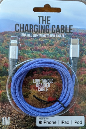 Hammerhead Fast Charge USB-C to Lightning 1 Meter Braided Cable - Purple at Small Dog Electronics