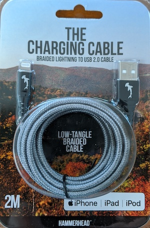 Hammerhead USB 3.0 to Lightning 2 Meter Braided Cable - Gray at Small Dog Electronics