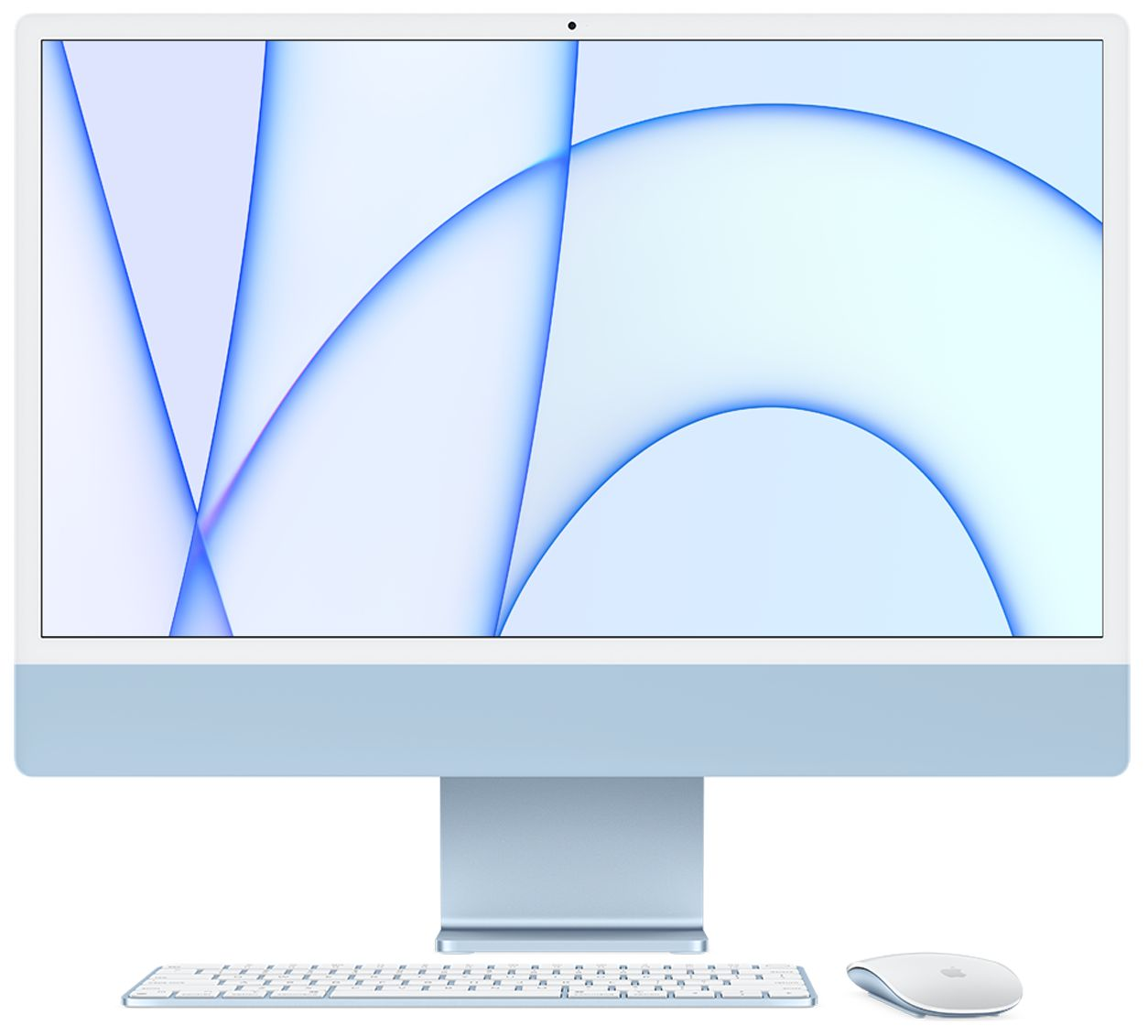 iMac 24-inch M1 chip with 8 core CPU and 7core GPU 8GB/256GB SSD - Blue at Small Dog Electronics