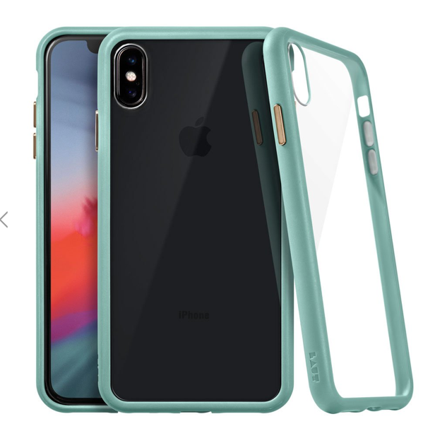 Laut Accents Tempered Glass Case for iPhone Xs Max - Mint at Small Dog Electronics