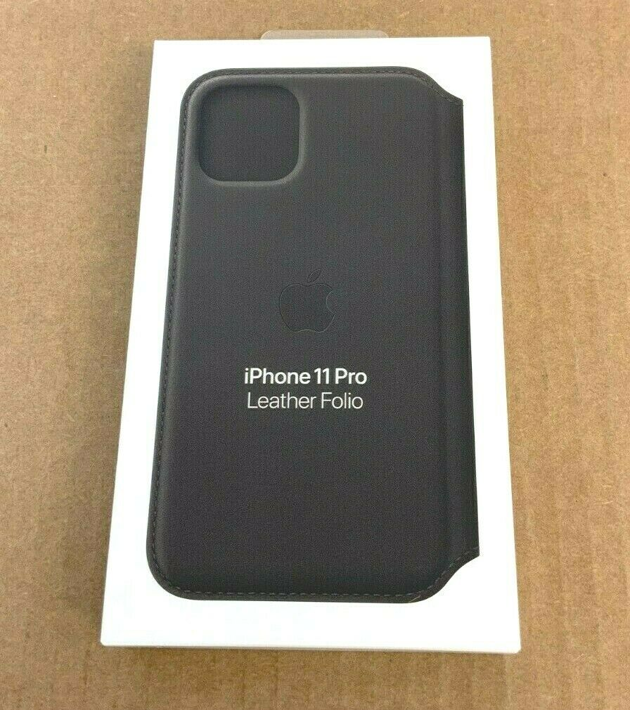 New, Factory Sealed Apple iPhone 11 Pro Leather Folio Black MX062ZM/A at Small Dog Electronics
