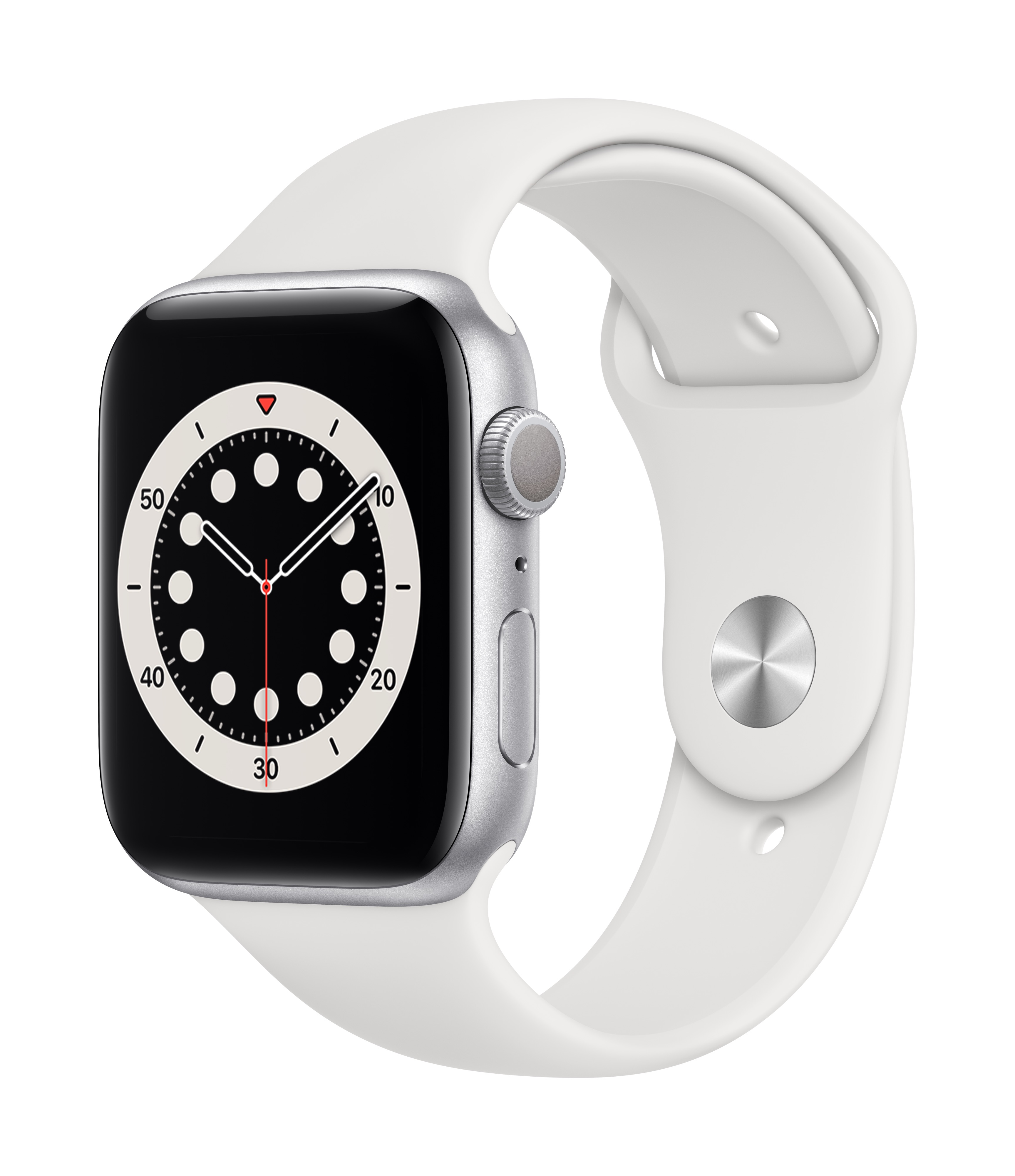 Apple_Watch_Series_6_GPS_44mm_Silver_Aluminum_White_Sport_Band_34R_Screen__USEN