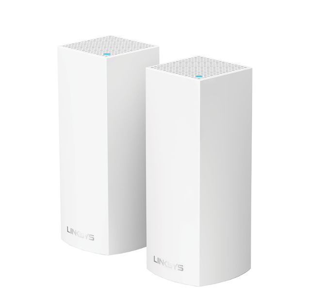 Linksys Velop Tri-Band Mesh Networking Wireless Router, 2-Pack - White