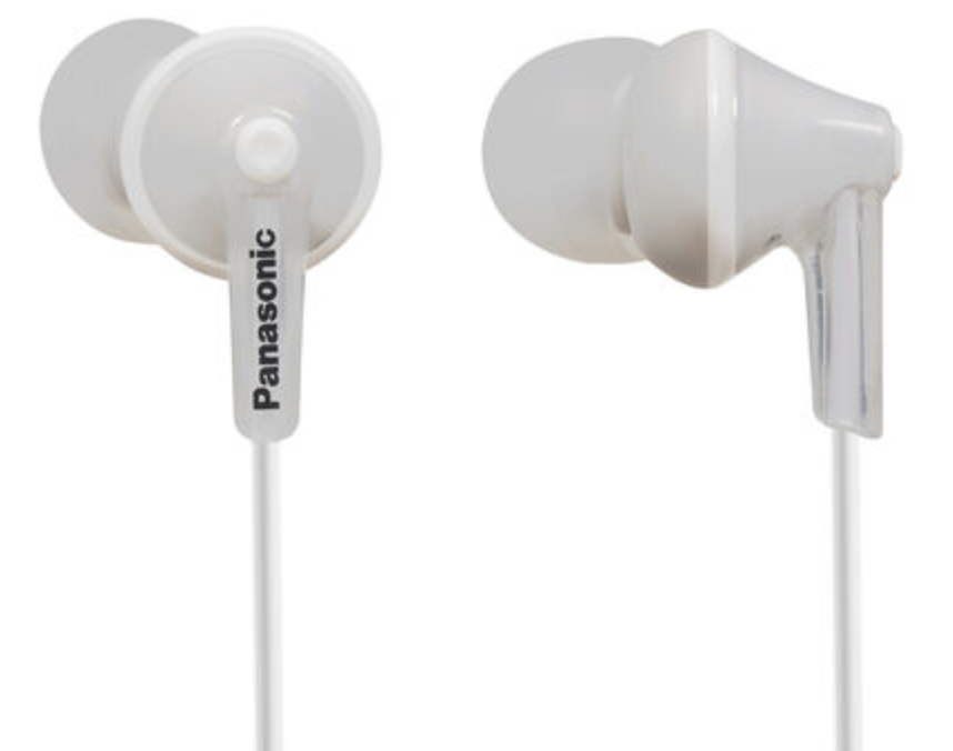 Panasonic Ergo Fit In-Ear Sound Isolating Headphones - White