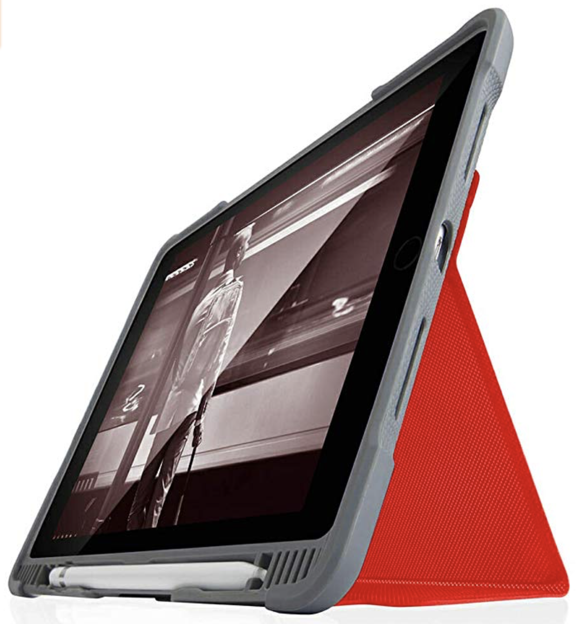 STM Dux Plus Duo for iPad 10.2 7th Generation - Red