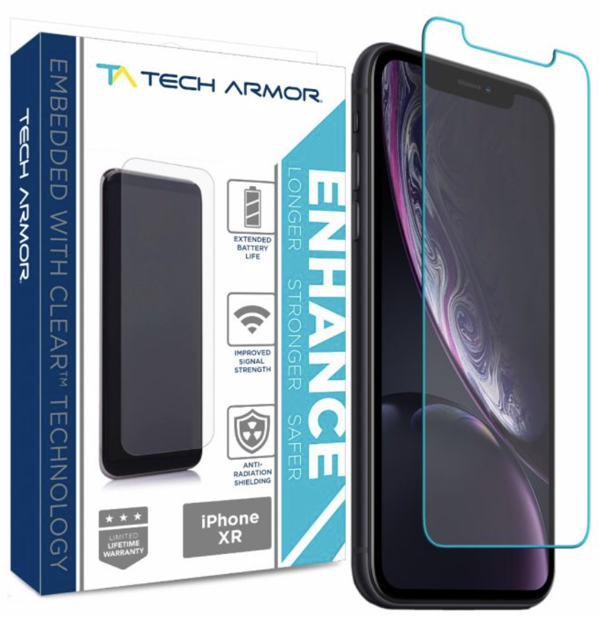 Tech Armor Ballistic Glass Screen Protector for iPhone XR - 1-Pack