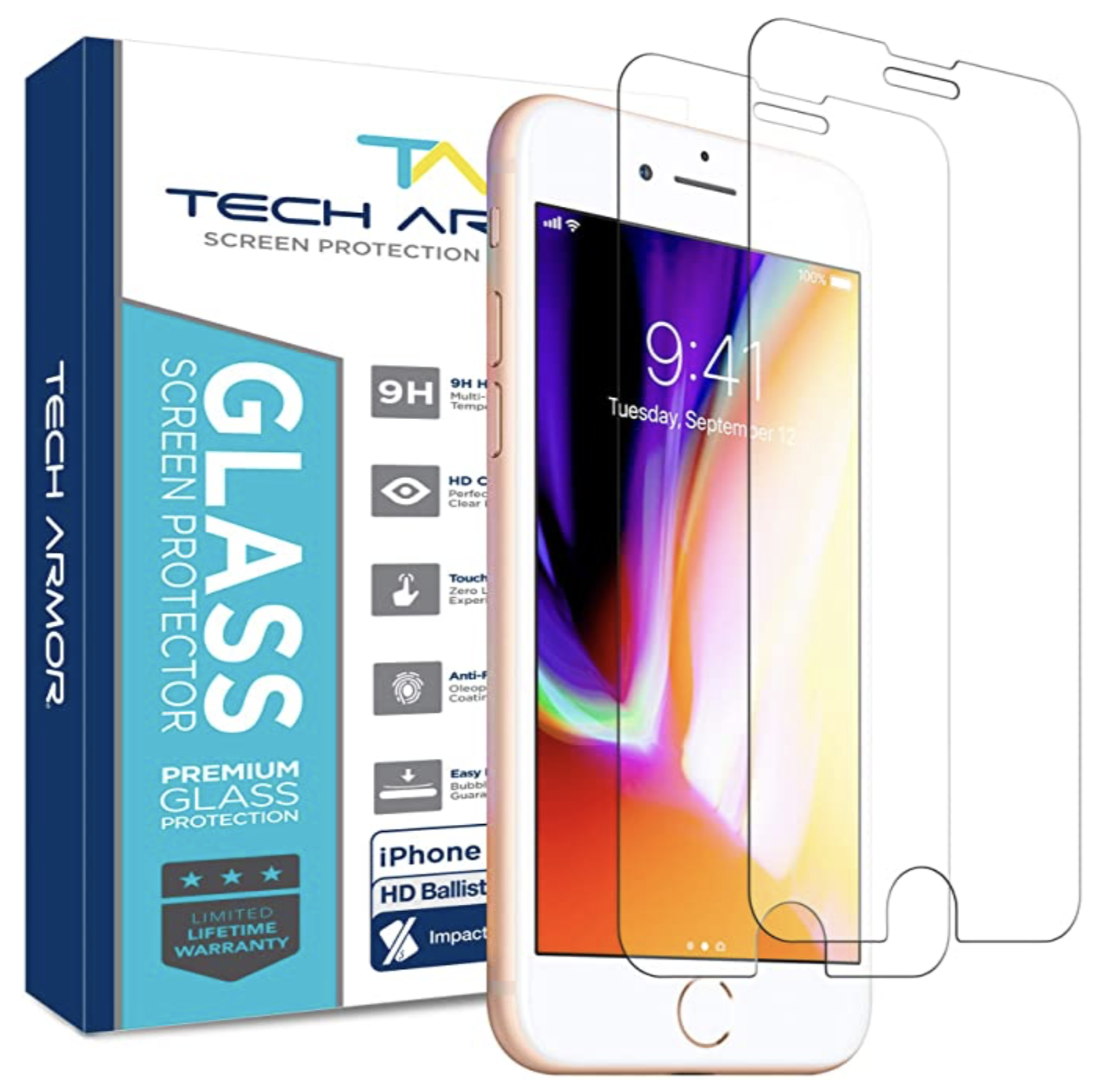 Tech Armor ELITE HD Clear Screen Protector for iPhone 7 - 2pk