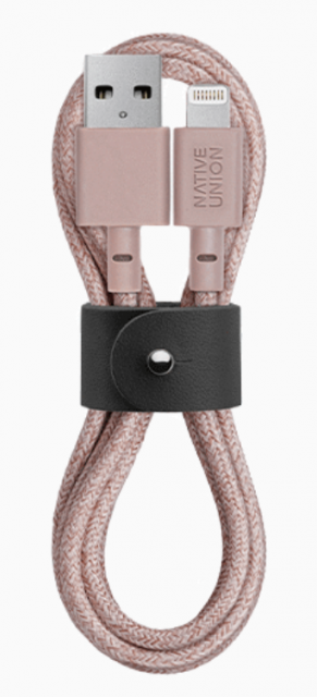 Native Union Belt Cable Ultra Strength Lightning Cable 1.2m - Rose