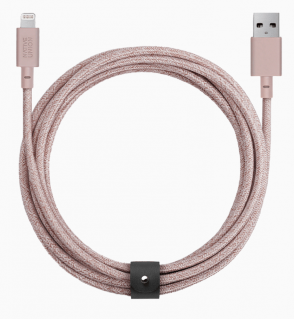 Native Union Night Cable Ultra Strength Lightning Cable 10ft - Rose