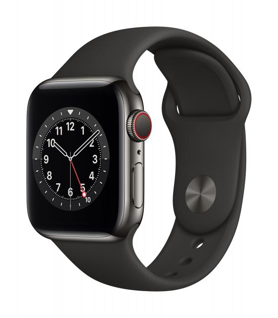Apple Watch Series 6 GPS + Cellular 40mm Space Gray Aluminum w/ Black Sport Band