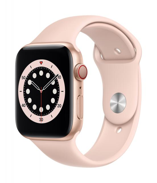 Apple Watch Series 6 GPS + Cellular 44mm Gold Aluminum w/ Pink Sand Sport Band
