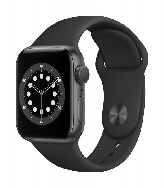 Apple Watch Series 6 GPS 40mm Space Gray Aluminum w/ Black Sport Band