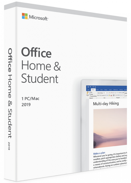 Microsoft Office Home / Student 2019 for 1 Mac - Product Key Version