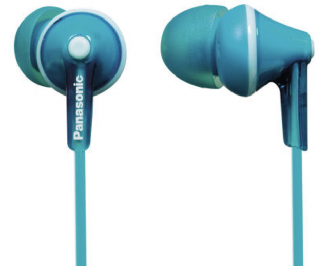 Panasonic Ergo Fit In-Ear Sound Isolating Headphones - Blue