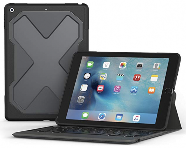 ZAGG Rugged Messenger Keyboard Case for 5th Gen iPad (2017) Black