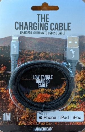 Hammerhead USB 3.0 to Lightning 1 Meter Braided Cable - Black